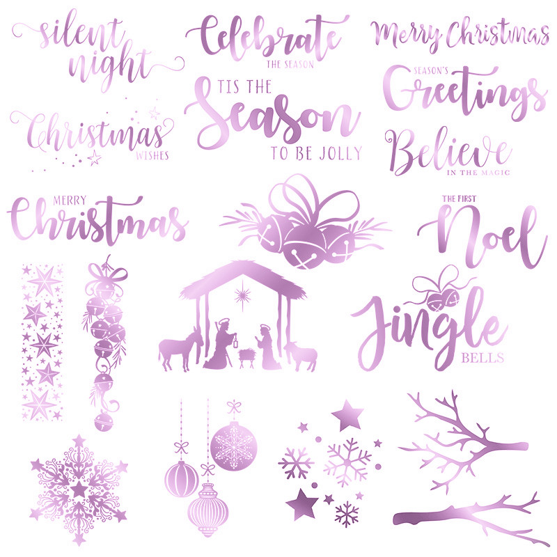 Christmas Letter Bell Hot Foil Plate Metal Cutting Dies Stencils for DIY Scrapbooking Photo Album Embossing Cards Crafts Die Cut