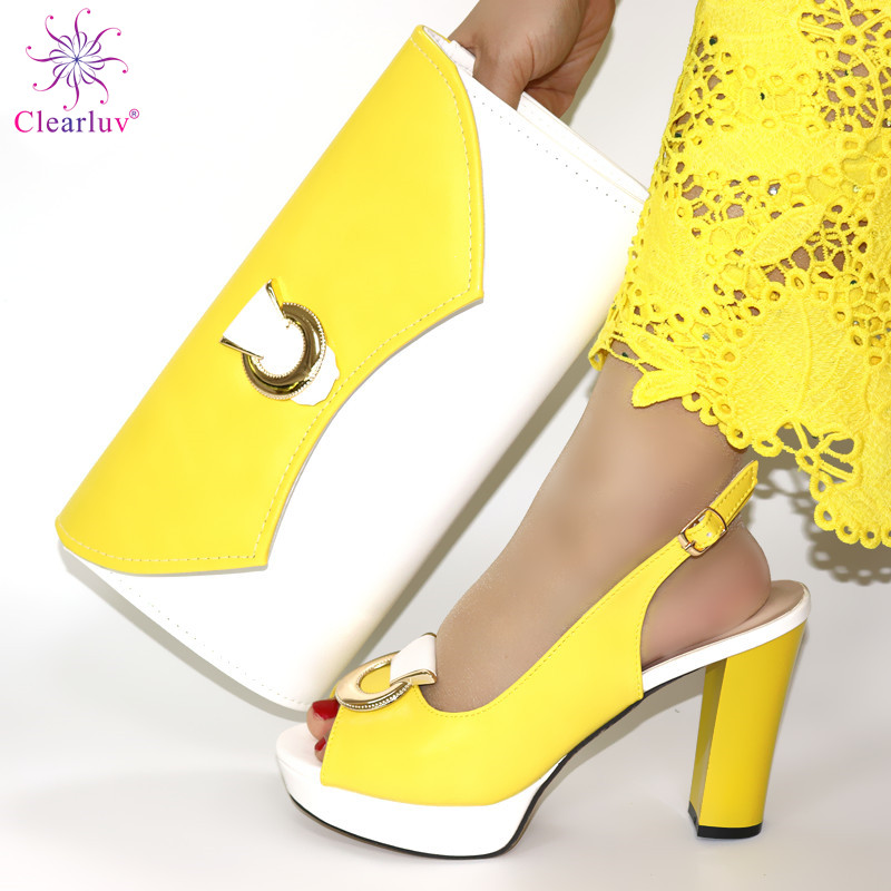 New Arrival Italian Shoes With Matching Bags Set Decorated With Rhinestone Women Shoes And Bags To Match Set Italy Party Pumps