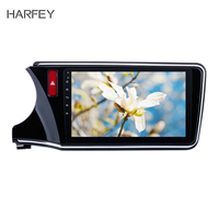 Harfey 2 din Car DVD Navigation System Autoradio GPS for 2014 2015 2016 2017 Honda CITY Left Radio Android 8.1 10.1inch with 3G