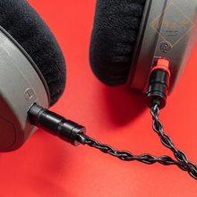 Câble XLR symétrique mâle hi-fi à 4 broches, 2M, pour casque Sennheiser HD650 HD600 HD580 HD545 HD535, câble de mise à niveau Audio plaqué argent