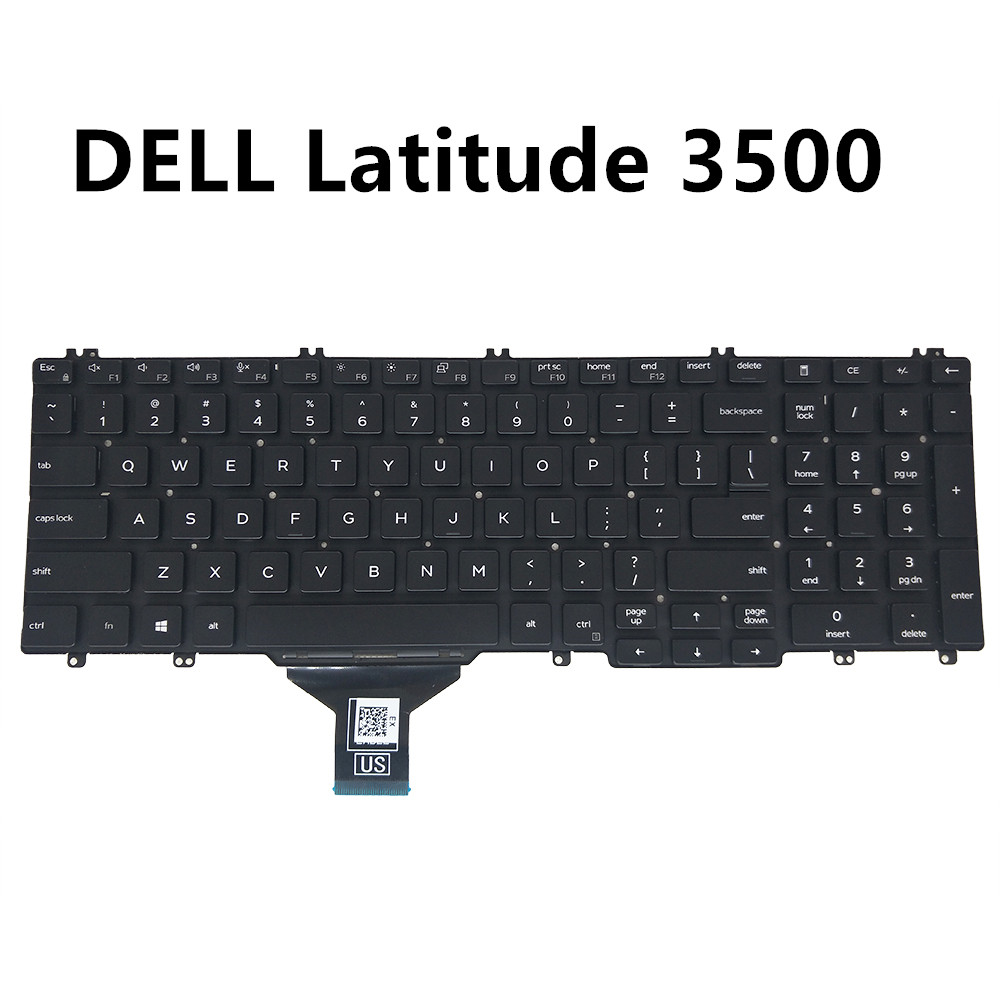 US keyboard for <font><b>Dell</b></font> latitude 15 <font><b>3500</b></font> English black with no frame internal 0DJXM0 NSK-EXAUC PK132FA1A00 E206453 DJXM0 CN-0DJXM0 image