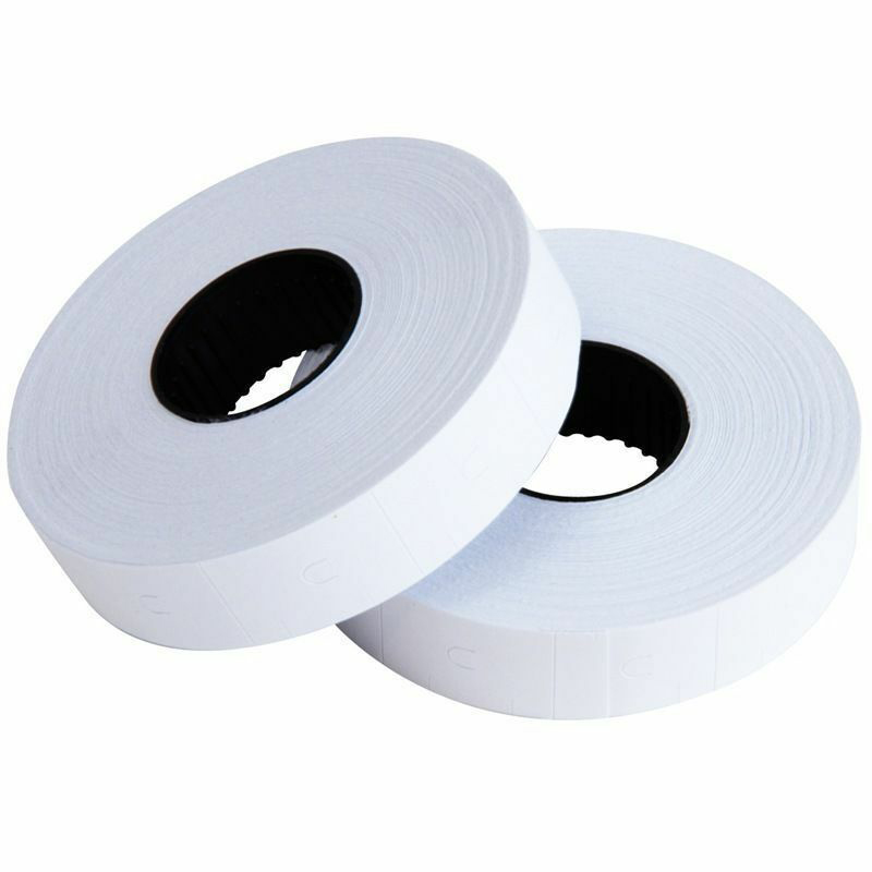 10 Rolls Price Labels Paper Tag Sticker Set Suitable For MX-6600 Labeller White