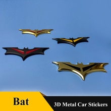 цена на 1pcs 3D Metal Bat Totem Auto Logo Car Sticker Metal Badge Emblem For Batman  Car Tail Decal Motorcycle Styling Car Accessories