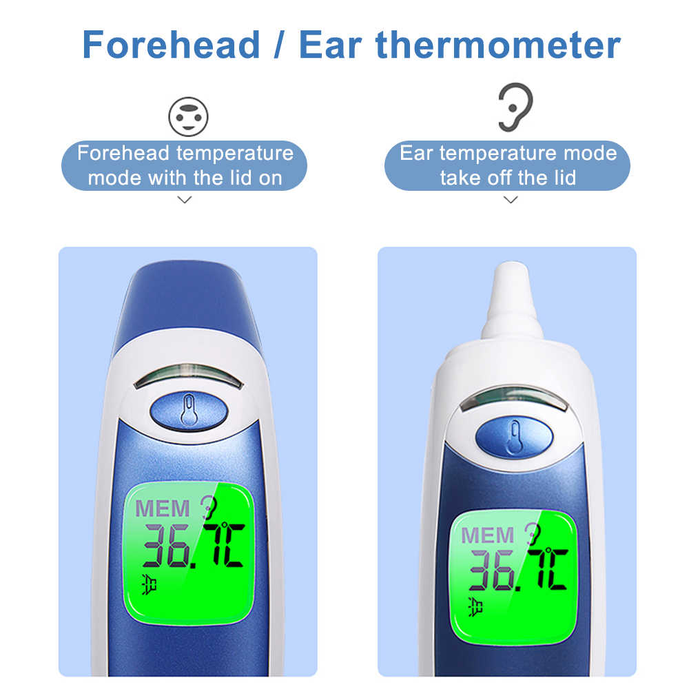 Cofoe Ear Forehead Thermometer Non-Contact Digital Muti-fuction Infrared Termometer Temperature measurements for babies & adults