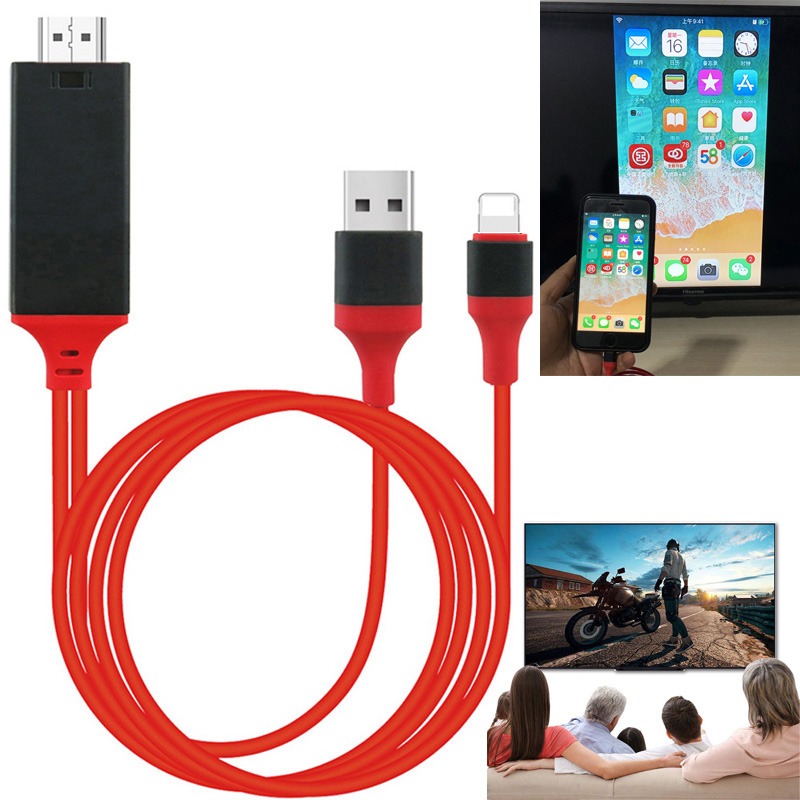 Wireless WiFi HDMI Cable HDTV AV Adapter for iPad iphone IOS Android Phone TO TV