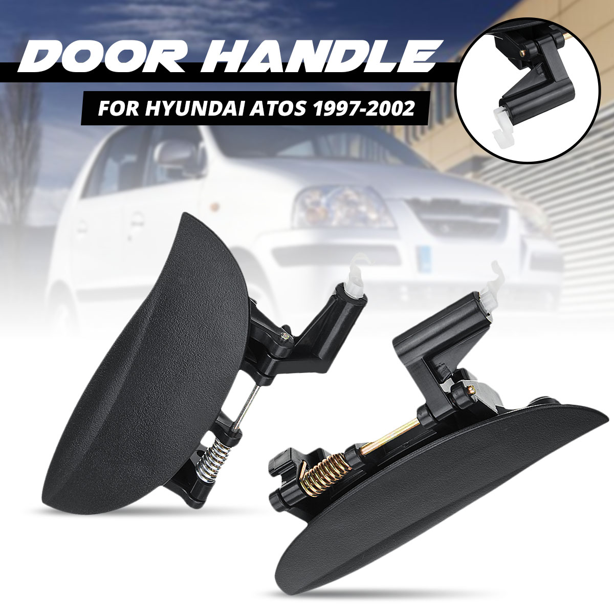 8265001000 8266001000 Car Front Left /Right Side External <font><b>Door</b></font> <font><b>Handle</b></font> Outside For <font><b>Hyundai</b></font> Atos 1997 1998 1999 2000 2001 2002 image