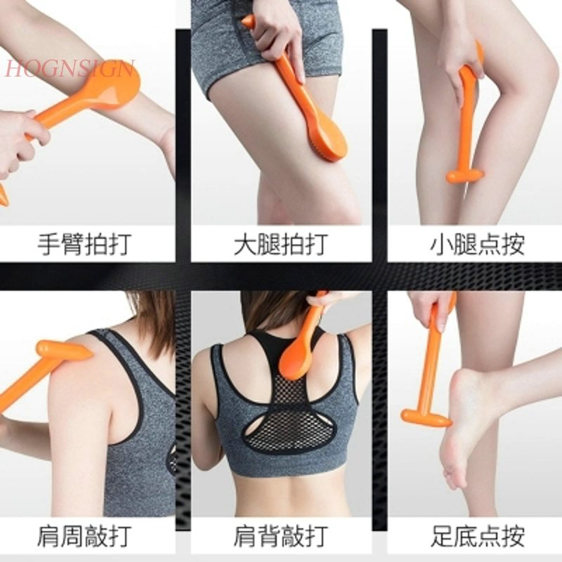 massage hammer Meridian Clapper Silicone Rubber Body Massage Stick Hammer Beat Fitness Health Pat Sha Board Sand Massager