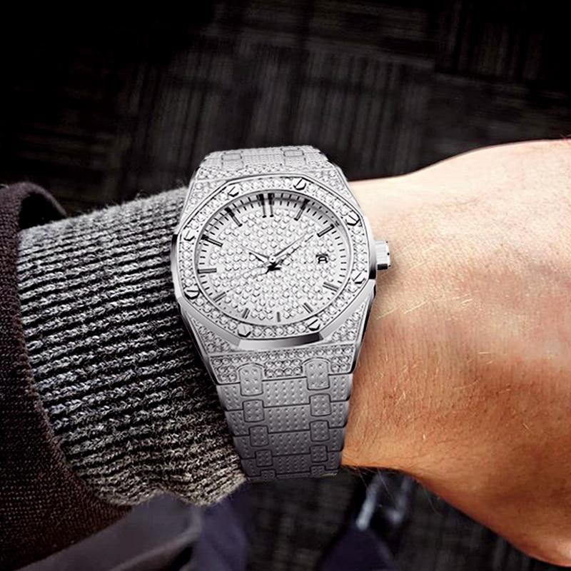 Relogio Masculino MISSFOX Mens Watches Top Brand Luxury Watches Men Quartz Steel Classic AP Watches Male Business Wristwatch