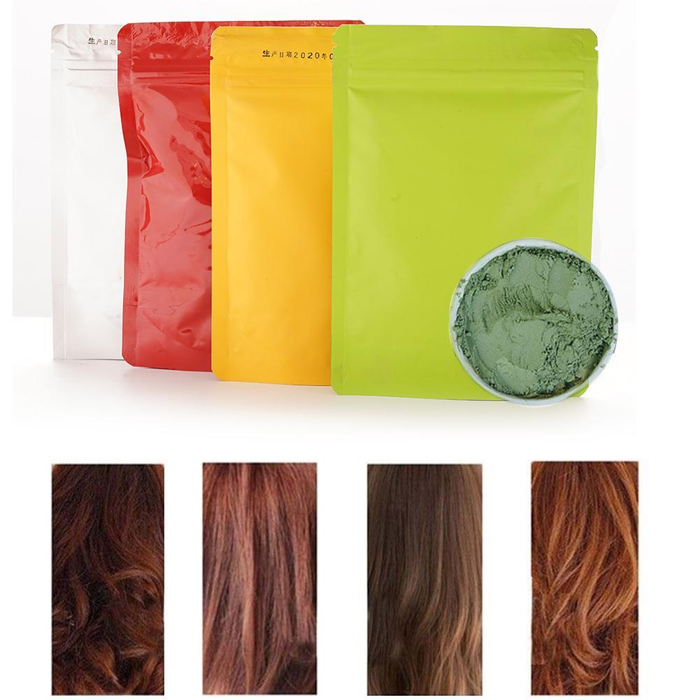 100g Authentic India Pure Henna Hair Dye Powder All Natural High Pigment Color For Hair Root Beard & Eyebrows Hair Coloring