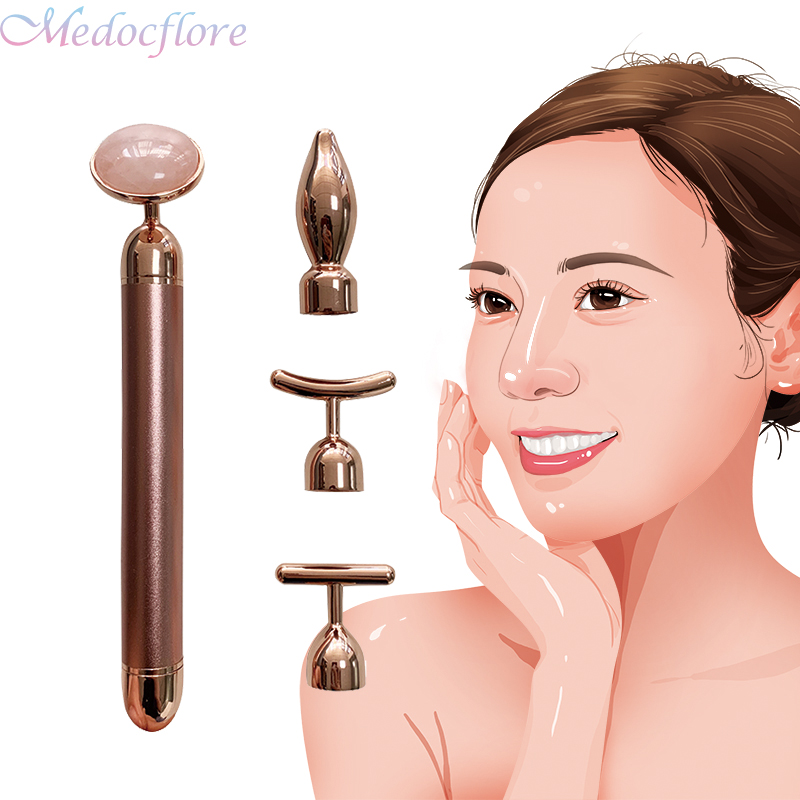 24k Gold Beauty Bar Face Care Tools Anti Aging Lift Skin Tightening Facial Massager Remove Wrinkle Slimming Device