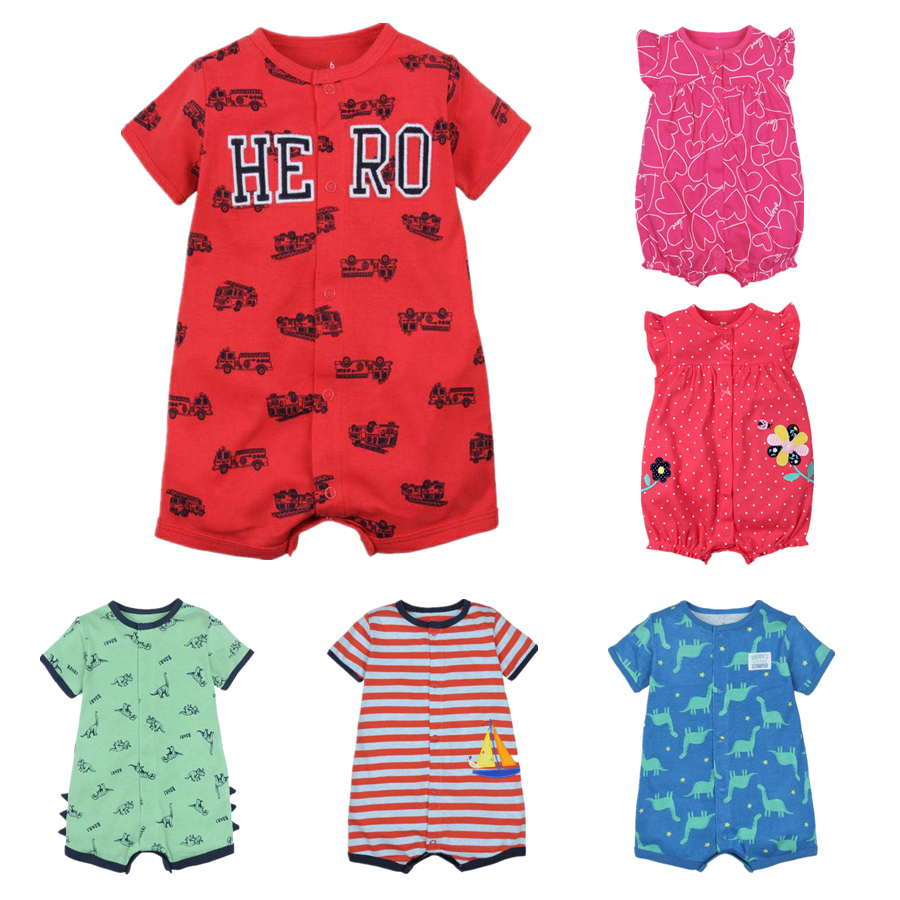 Summer baby boys clothes cotton Jumpsuit Short sleeve Roupas Menino for Baby Boy Body suits