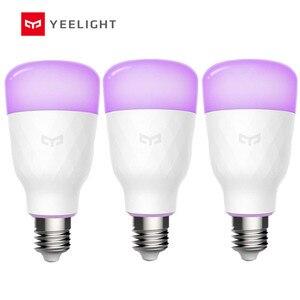 Image 1 - Yeelight E26 /E27 10W RGBW חכם LED הנורה עבודה עם אמזון Alexa AC100 240V
