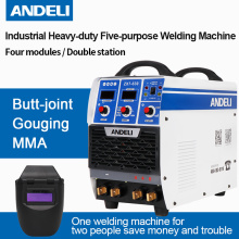 Andeli Draagbare Eenfase Dubbele Bit Vier Modules Kerving/butt-joint/mma Spot Lassen Arc Multifunctionele welding Machine