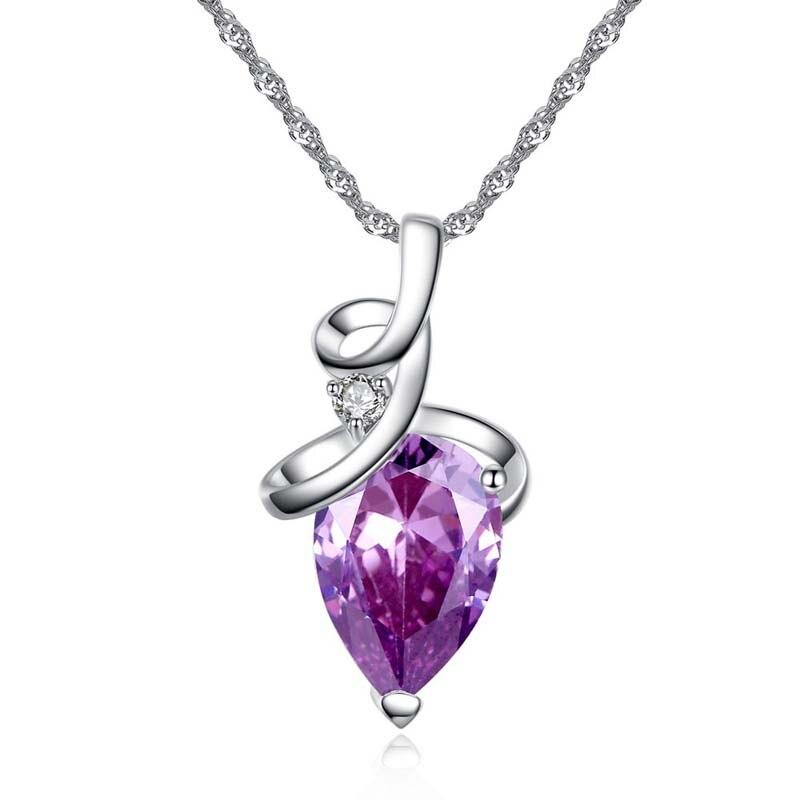 Модное ожерелье с подвеской в виде принцессы, подвеска с подвеской в виде капли, ожерелье с разноцветным цирконием класса ААА для подруги, ю...