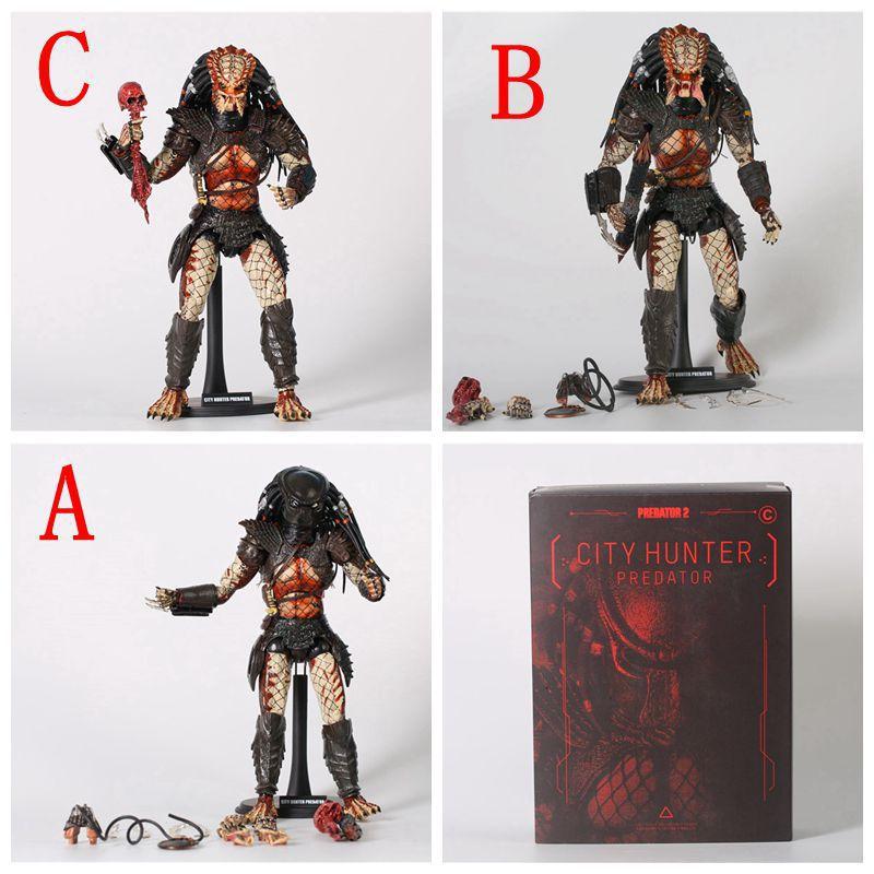 Jouets chauds MMS173 prédateur 2 ville chasseur prédateur PVC figurine d'action 36CM 1/6 échelle la Figure du prédateur modèle jouets