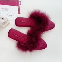 GKTINOO 2021 Neue Schöne Frauen Flip Flop Spitz Hause Boden Weiche Hausschuhe Weibliche Schuhe Mädchen Winter Frühling Warme Schuhe