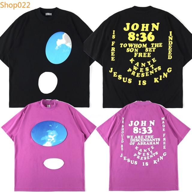 Jesus Is King John 8;30 Kingfisher Foam Print Tees 1