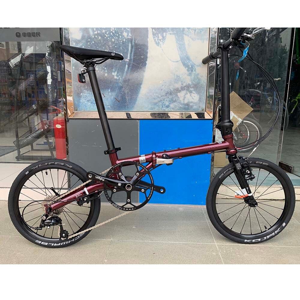 "Hd45db08aecf74b369a3a3091dc29449eS Fnhon Gust CR-MO Steel Folding Bike 16"" 305 349 Minivelo Mini velo Bike Urban Commuter Bicycle V Brake 9 Speed"