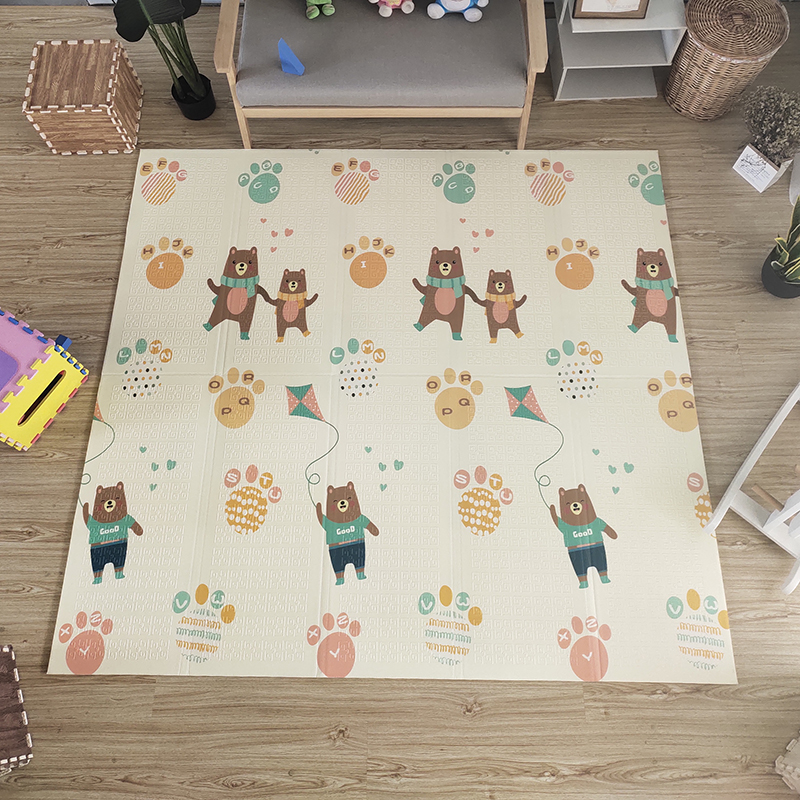 Hd45db136a6f7430887226a9f0adf972bA Thick Educational Children's Mat XPE Foldable Baby Mat Developing Kids Rug Road Game Playmat Soft Floor