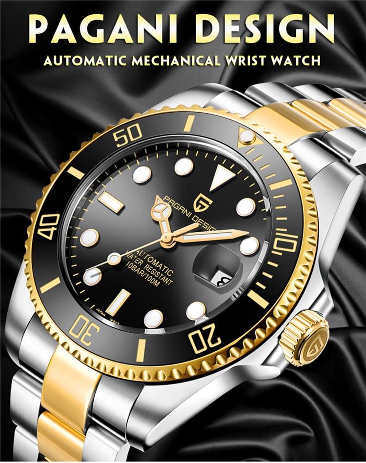 Hd45e25966b124b869e5dc5f75c6eb8781 PAGANI Design Brand Luxury Men Watches Automatic Black Watch Men Stainless Steel Waterproof Business Sport Mechanical Wristwatch