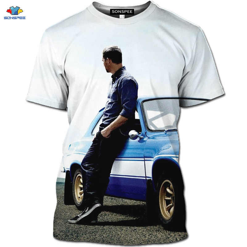 Sonspee Gairah Film Fast & Furious T-shirt Motor Hobbs dan Shaw Kemeja The Fate Of The Furious T-shirt 3D GTR racing Top
