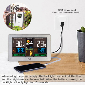 Image 3 - FanJu Temperature Humidity Wireless Sensor Indoor Outdoor Hygrometer Thermometer Wall Barometer Forecast Weather Station