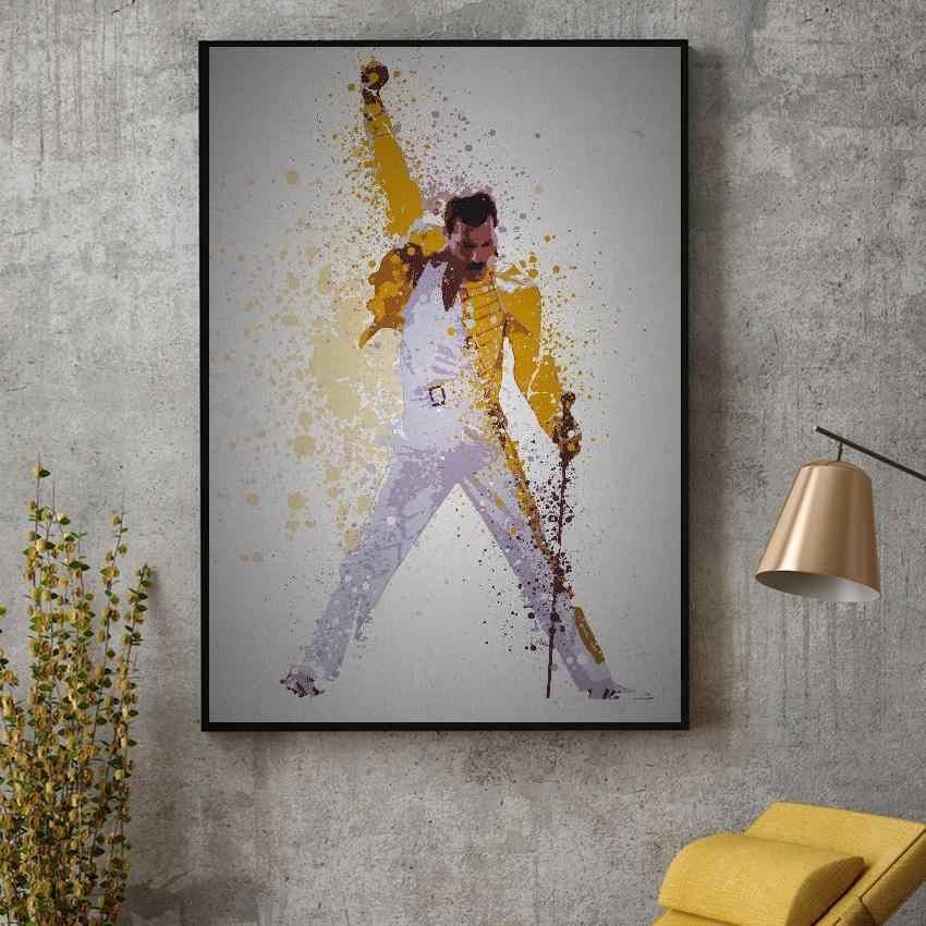 Королева Фредди Меркьюри богемные Рапсодия холст картина стены искусства Печать Современные плакаты на стену, изображения для гостиной домашний декор