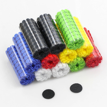 100Pairs glue on Hooks and Loops Sticker strong velcros Self Adhesive dot Nylon waterproof fastener tape