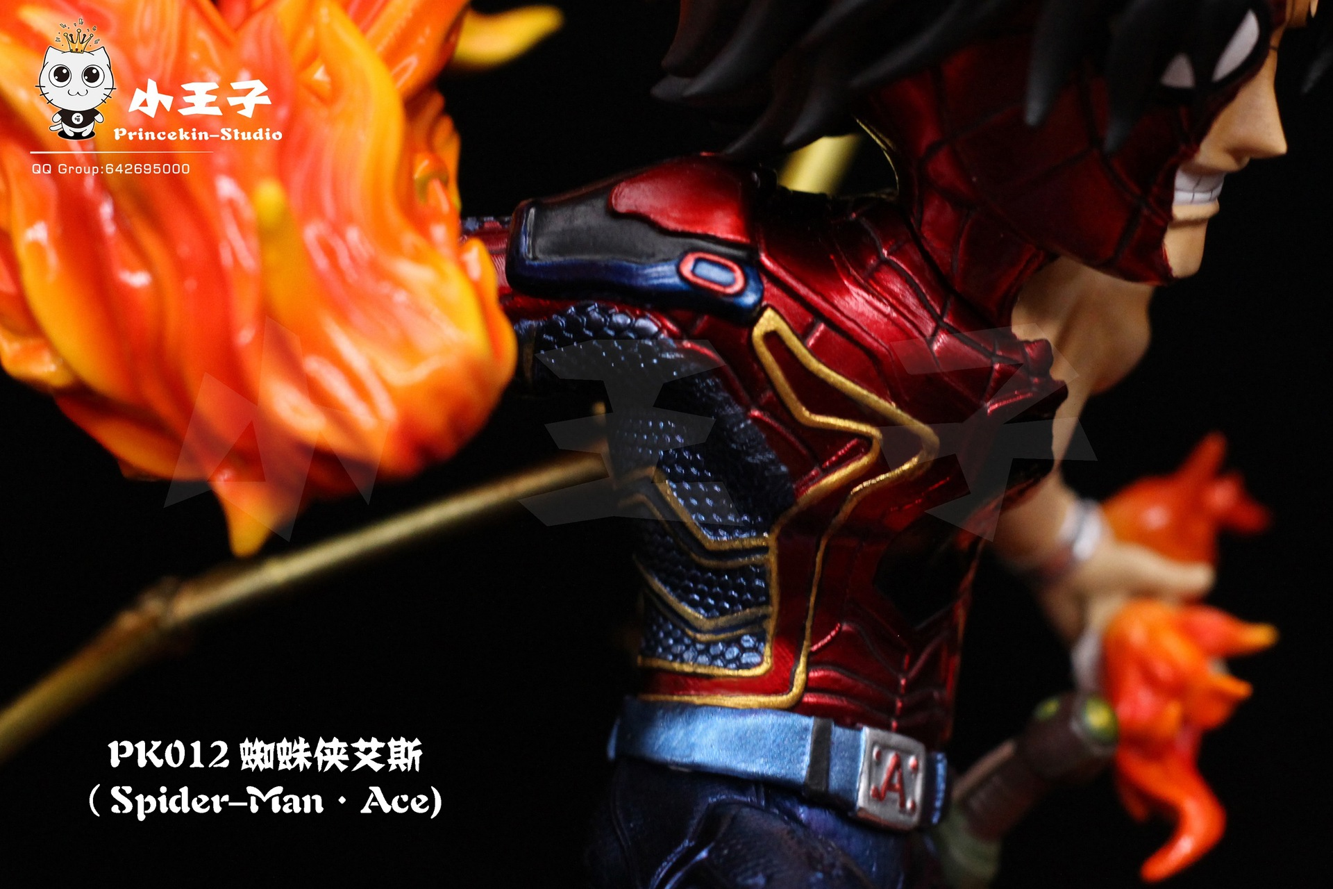 One Piece Portgas D Ace Cosplay Avengers Iron Spider Spider-man Figurine Statue