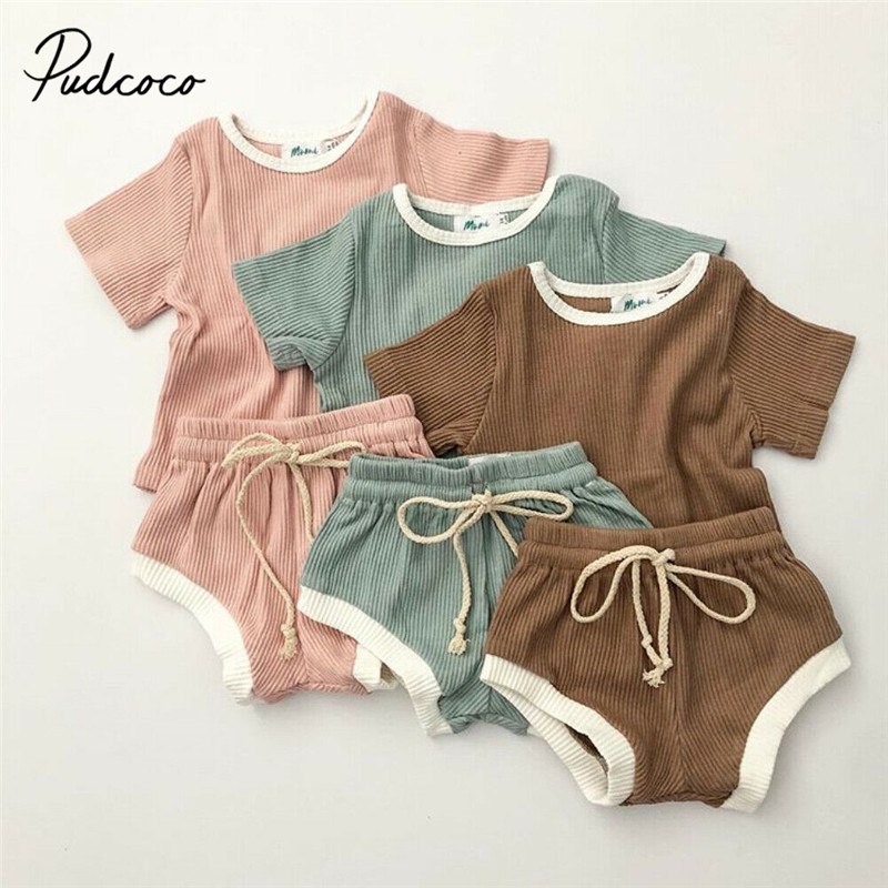 Newborn Clothing Sets Summer Baby Clothes For Boys & Girls Cotton Lion Soild Baby Sets 0-3Y Baby Child Casual Clothes 2PCS