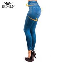 Activewear High Waist Fitness Leggings Women Pants Fashion Patchwork Workout Legging Stretch Slim Pocket Printing Denim