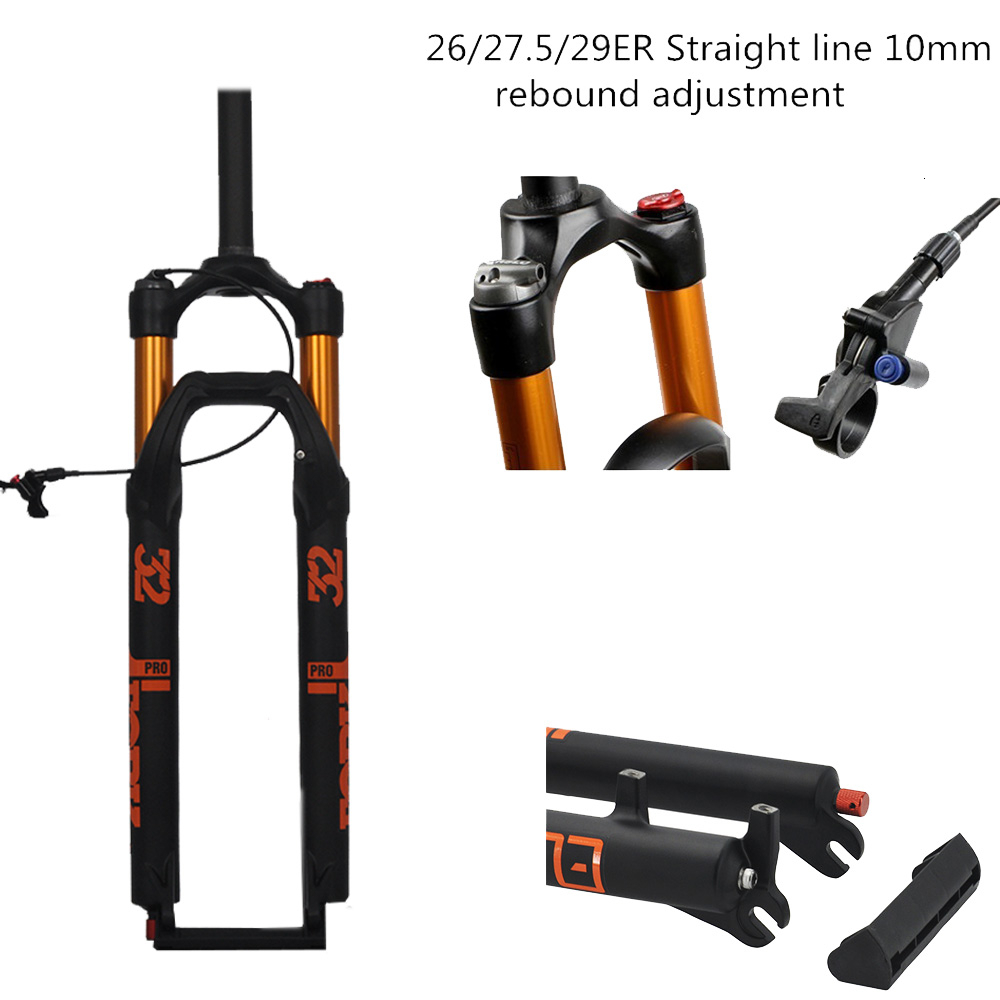 <font><b>MTB</b></font> Bicycle Air Fork <font><b>27.5</b></font> 29 ER <font><b>MTB</b></font> Mountain <font><b>Suspension</b></font> Fork Air Resilience Oil Damping Line Lock For Over SR SUNTOUR EPIX image