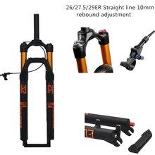 лучшая цена MTB Bicycle Air Fork 27.5 29 ER MTB Mountain Suspension Fork Air Resilience Oil Damping Line Lock For Over SR SUNTOUR EPIX