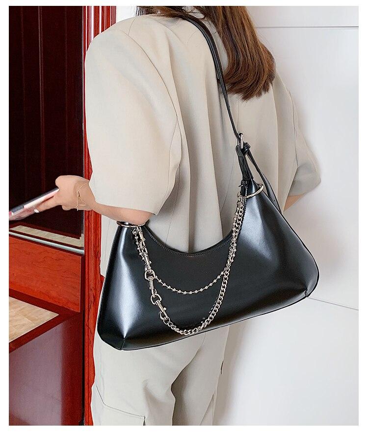 Novo design francês moda corrente underarm saco