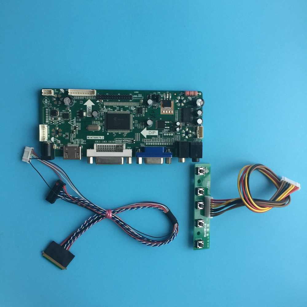 "Kit Voor HT140WXB-100 Monitor M.N68676 Hdmi Lcd Lvds 40pin 1366X768 Vga Dvi Panel Screen Controller Board 14 ""Led Diy"