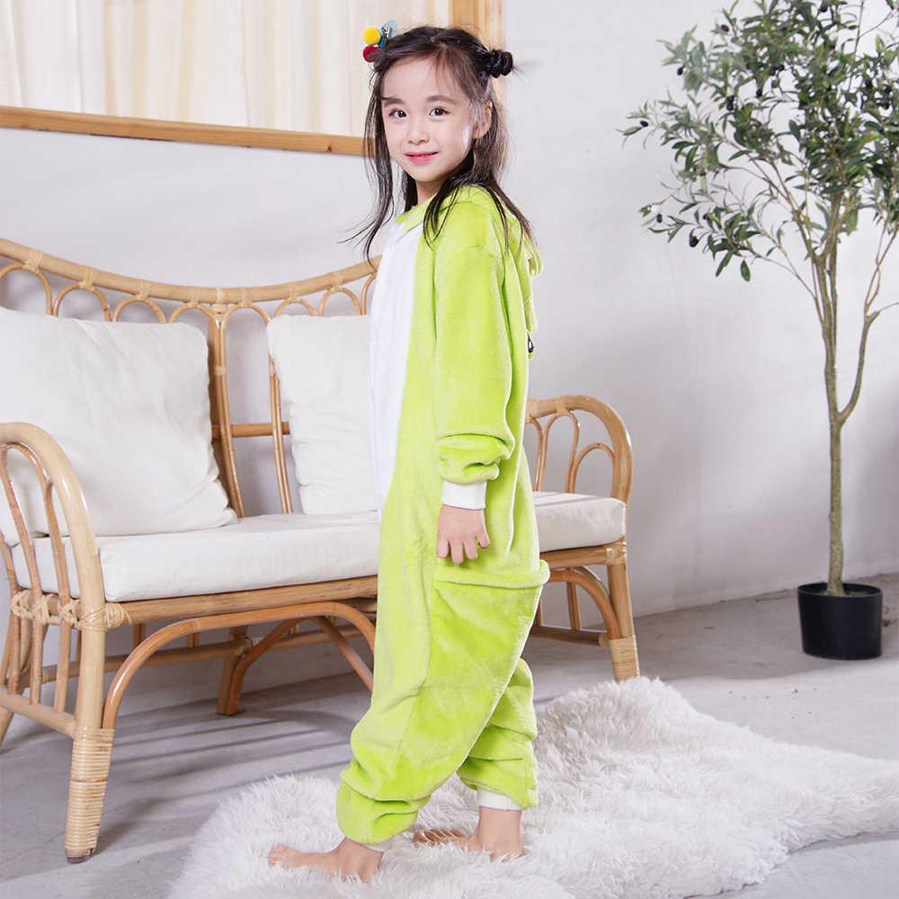 Pijamas de invierno de kigumi para niñas y niños divertidos pijamas de franela suave en general mono de invierno para niños pijama de unicornio para niños pijama de cosplay