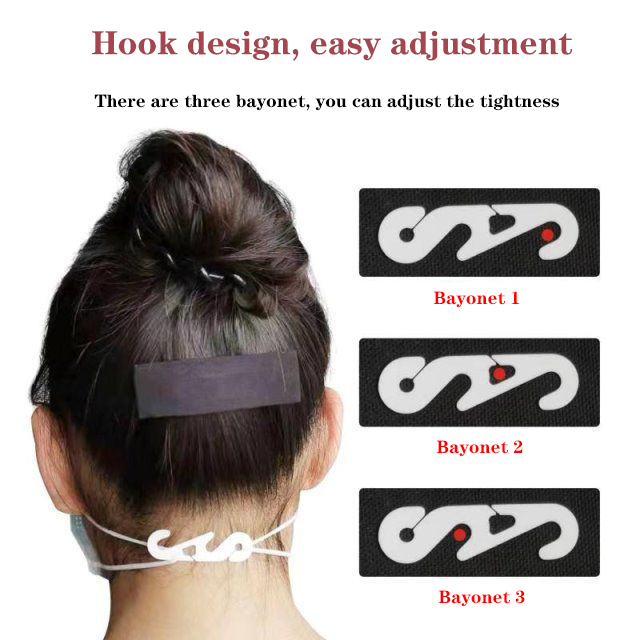 20pcs Mask Hook Ear Strap Adjustment Buckle S-type  Ear Artifact Ear Hanging Rope Extension Buckle Variable Head-mounted Buckle