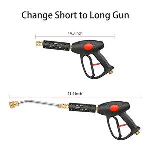 Image 4 - Hochdruck Washer Gun Power Spray Gun 4000psi mit 19 zoll Verlängerung Ersatz Zauberstab Lance, 5 Quick Connect Düsen Top verkauf