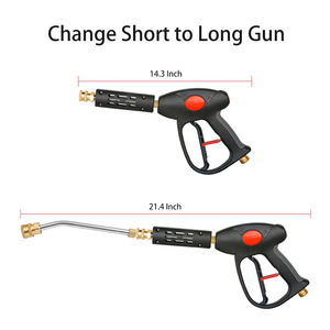 Image 4 - Sooprinse High Pressure Washer Gun Wand Tips Adjustable Water Gun Lance 5 Nozzles 4000PSI for penogenerator car accessories