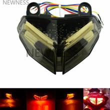 E-mark motocykl zintegrowany LED tylny hamulec światło Stop lampa Taillight dla DUCATI 1198 R CORSE 848 1098 R S tanie tanio NEWNESS Lampa tylna Zgromadzenia
