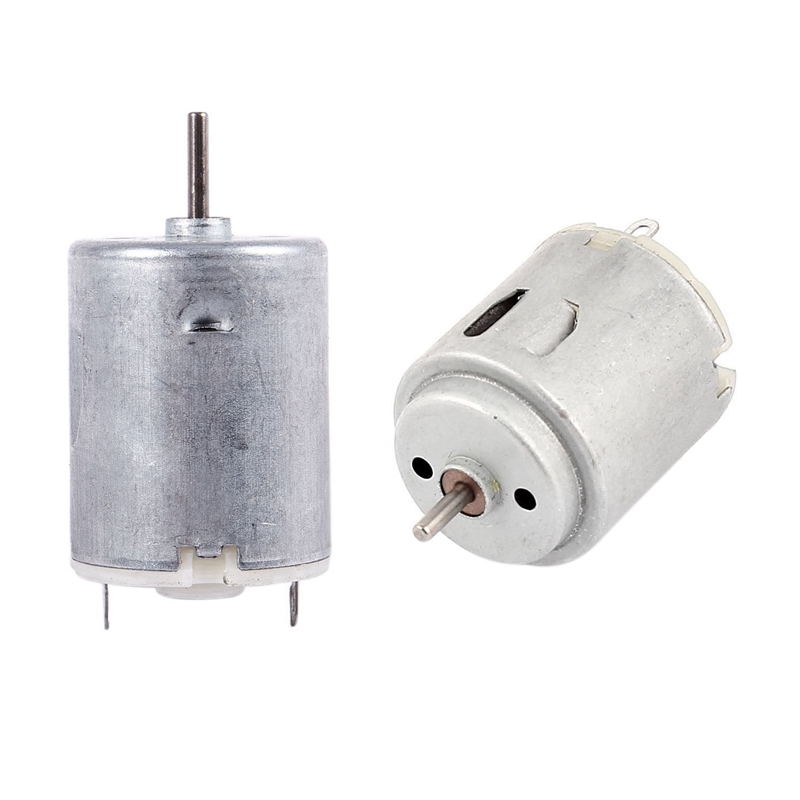 2Pcs High Torque Magnetic Cylindrical Mini <font><b>DC</b></font> <font><b>Motor</b></font> Silver - 8000RPM 9V 68MA & 6-12V <font><b>3000</b></font> <font><b>RPM</b></font> image