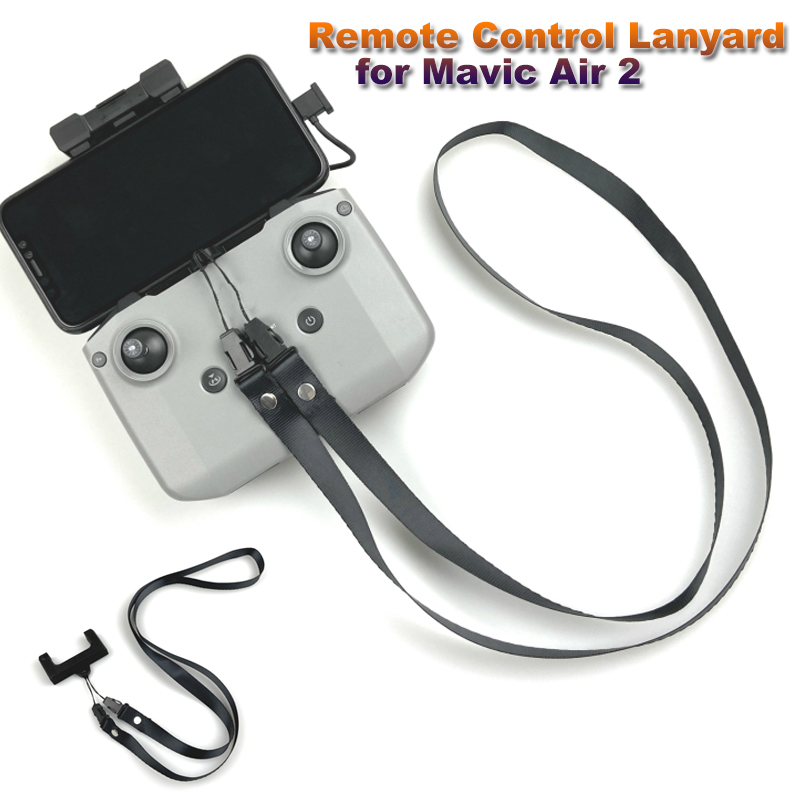 Remote Control Lanyard For Mavic Air 2 Neck Lanyard  Strap With 3D Printed Fixed Clip For DJI Mavic Air 2 Accessories