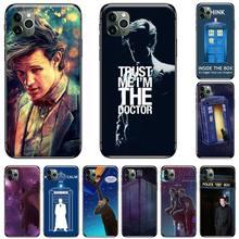 цена Tardis Box Doctor Who TARDIS Soft black Phone Case For iphone 5 5S SE 5C 6 6S 7 8 plus X XS XR 11 PRO MAX онлайн в 2017 году