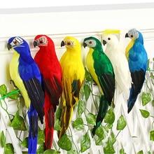 1PC Wedding Decoration Artificial Parrots Bird Decor Simulation Birds Colorful Garden Christmas Ornament