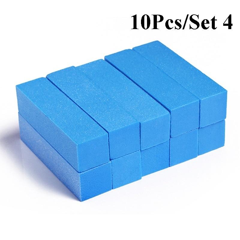 10pcs/lot Mini Sponge Nail File Colorful Sanding Buffer UV Gel Polish Set Block Nail Files Double Side Nagel Nail Art Tools 11