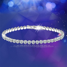 Fashioh Crystal Tennis Bracelet Zircon Beads Bangle Chains Strand Bracelets for Women Pulseiras Bijoux