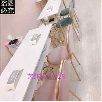 European marble manicure table and chair set single double manicure table double manicure table chair stool