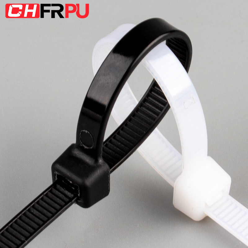 Self-Locking Plastic Nylon Wire Cable Zip Ties 100pcs Black Or White Cable Ties Fasten Loop Cable Various Specifications