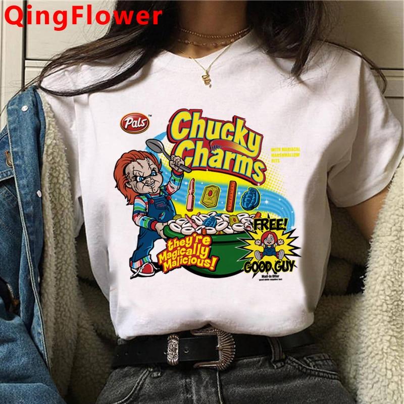 Женская футболка в стиле Харадзюку, забавная футболка в стиле Харадзюку с изображением героев мультфильмов, футболка в винтажном стиле, мод...