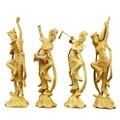 Holz Schönheit Statue Chinese Startseite Dekoration Zubehör Charakter Carving Dance Handwerk Moderne Handgemachte Weihnachten Geschenke-in Statuen & Skulpturen aus Heim und Garten bei